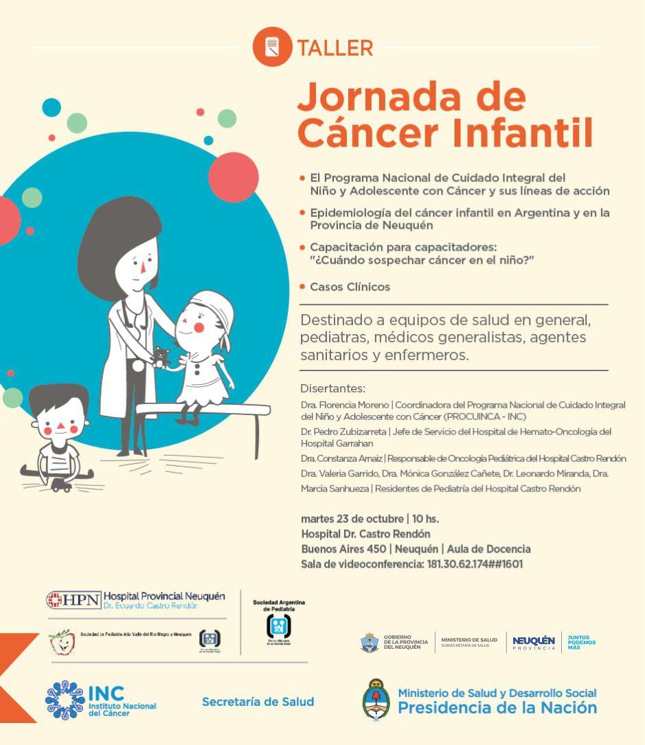 Jornada de Cáncer Infantil @ Sala de Video Conferencia Hospital Castro Rendón | Neuquén | Neuquén | Argentina